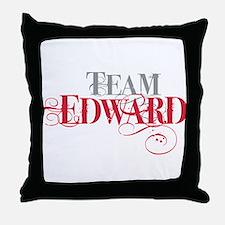Team Edward Throw Pillow