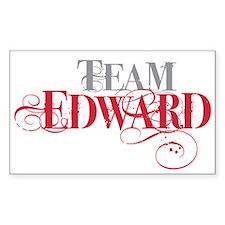 Team Edward Rectangle Decal