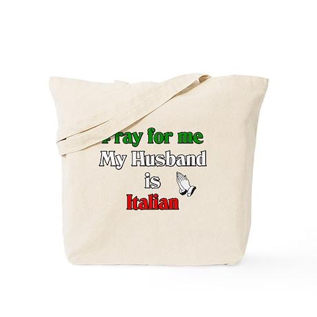 Pray for me my husband is Ita Tote Bag
