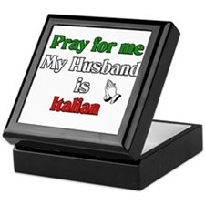 Pray for me my husband is Ita Keepsake Box