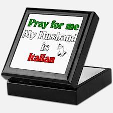 Pray for me my husband is Ita Keepsake Box