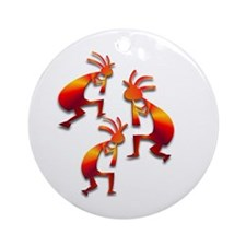 Three Kokopelli #56 Ornament (Round)