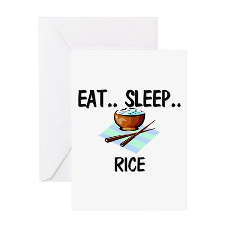 Eat ... Sleep ... RICE Greeting Card