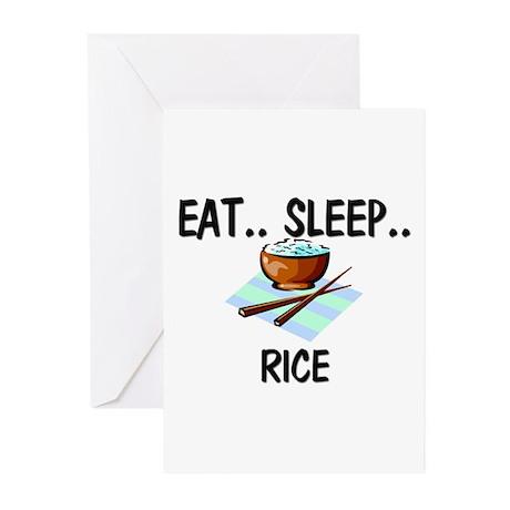 Eat ... Sleep ... RICE Greeting Cards (Pk of 10)