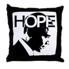 Obama hope Throw Pillow