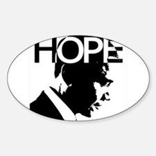 Obama hope Oval Decal