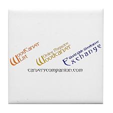 WOM, W3E, List Logos Tile Coaster