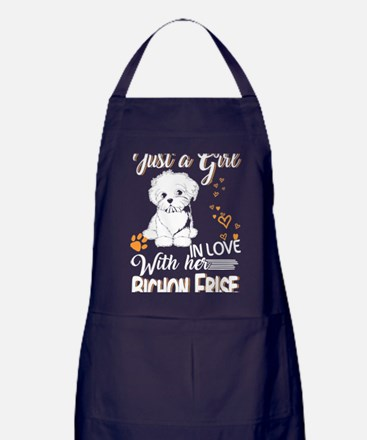Cute Bichon frise angel Apron (dark)