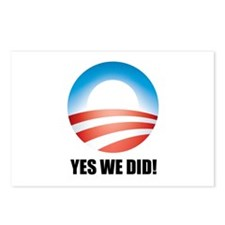 Yes We Did! - Barack Obama Logo Postcards (Package
