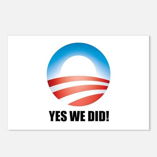Yes We Did! - Barack Obama Logo Postcards (Package