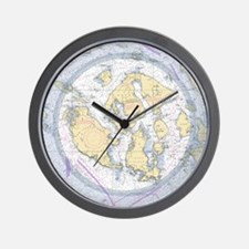 Nautical Chart Wall Clock