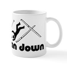 man down skier Mugs