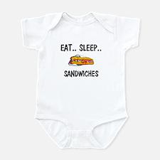 Eat ... Sleep ... SANDWICHES Infant Bodysuit