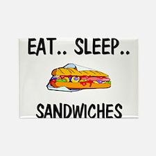 Eat ... Sleep ... SANDWICHES Rectangle Magnet