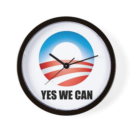 Yes We Can - Barack Obama Log Wall Clock