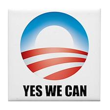 Yes We Can - Barack Obama Log Tile Coaster
