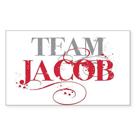 Team Jacob Rectangle Sticker