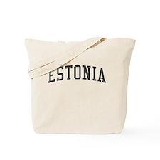 Estonia Black Tote Bag