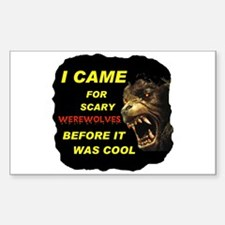 WEREWOLVES TURN ME ON Rectangle Decal