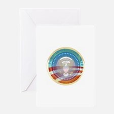 Obama Presidential Logo Greeting Card