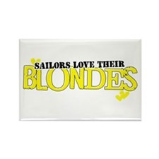 Sailors love their blondes Rectangle Magnet