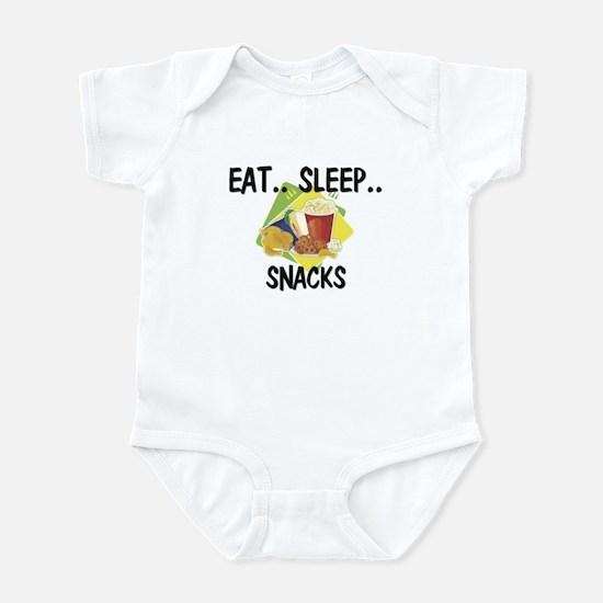 Eat ... Sleep ... SNACKS Infant Bodysuit