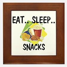 Eat ... Sleep ... SNACKS Framed Tile