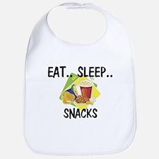 Eat ... Sleep ... SNACKS Bib
