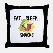 Eat ... Sleep ... SNACKS Throw Pillow