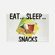 Eat ... Sleep ... SNACKS Rectangle Magnet