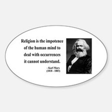 Karl Marx 2 Oval Decal
