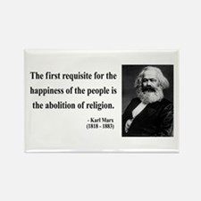 Karl Marx 3 Rectangle Magnet