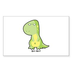 T-Rex Rectangle Sticker