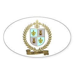 d'ENTREMONT Family Crest Oval Decal