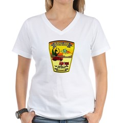 Iraq Military Fire Dept Women's V-Neck T-Shirt