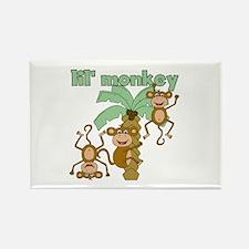 Lil Monkey Rectangle Magnet