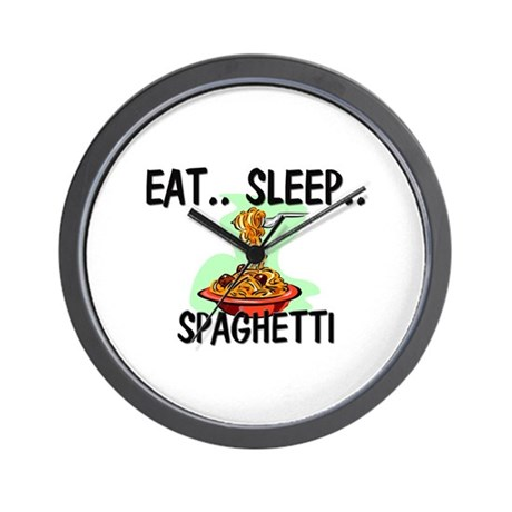 Eat ... Sleep ... SPAGHETTI Wall Clock