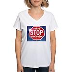 DON'T STOP Women's V-Neck T-Shirt