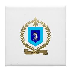 DESCHENES Family Crest Tile Coaster