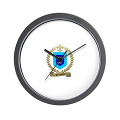 DESCHENES Family Crest Wall Clock