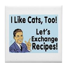 I Like Cats Recipe 3 Tile Coaster