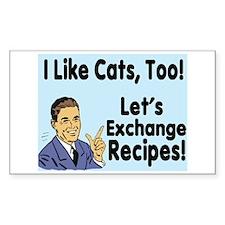 I Like Cats Recipe 3 Rectangle Decal