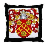 Moens Family Crest Throw Pillow