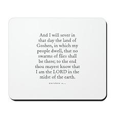 EXODUS  8:22 Mousepad