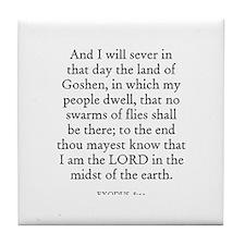EXODUS  8:22 Tile Coaster