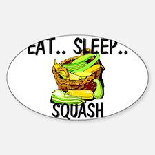 Eat ... Sleep ... SQUASH Oval Decal