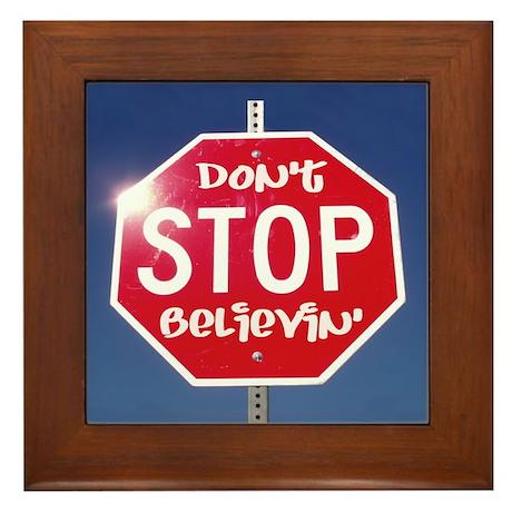 DON'T STOP BELIEVING Framed Tile
