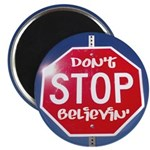 """DON'T STOP BELIEVING 2.25"""" Magnet (10 pack)"""