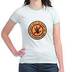 U S S Farragut Jr. Ringer T-Shirt