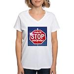 DON'T STOP BELIEVING Women's V-Neck T-Shirt